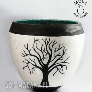 ceramika wazor osłonka drzewo raku