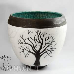 kolorowe ceramika wazor osłonka drzewo raku