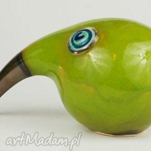 ceramika: Wielki ptak patrzy - figurki