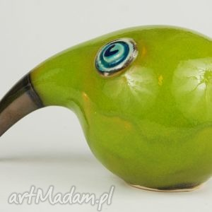 zielone ceramika wielki ptak patrzy