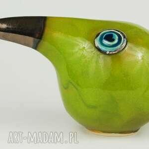 ceramika: Wielki ptak patrzy - zwierzeta