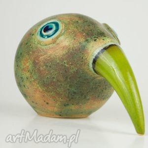 ceramika zwierzęta wielki ptak patrzy