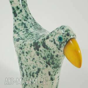 autorskie ceramika ptaki wróble miętowe