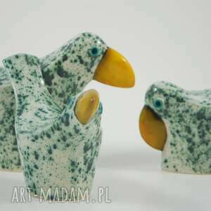 ceramika zwierzęta wróble miętowe