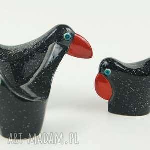 eleganckie ceramika wróble w czerni