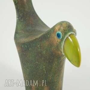 ptaki ceramika wróble w zieleni