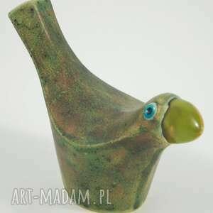 ceramika ptaki wróble w zieleni