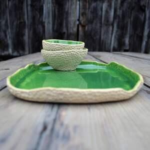 ceramika talerz wyjątkowy zestaw: patera dwie