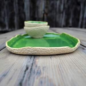 talerz ceramika wyjątkowy zestaw: patera dwie