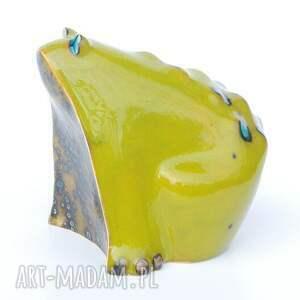 handmade ceramika figurki żabcia puszysta