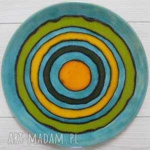 kolorowe ceramika patera ceramiczna zakręcona