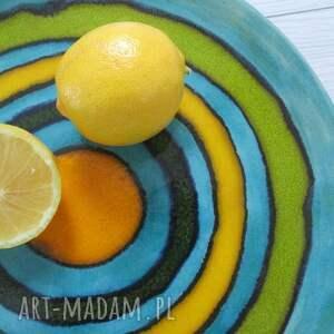 ręcznie zrobione ceramika zakręcona patera ceramiczna