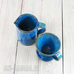 ceramika herbata zaparzacz z dwoma czarkami