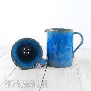 herbata ceramika zaparzacz z dwoma czarkami