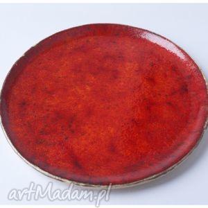 ceramika zestaw 2 talerzy ceramicznych