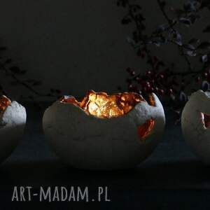 ceramika stół zestaw 3 lampionów ceramicznych