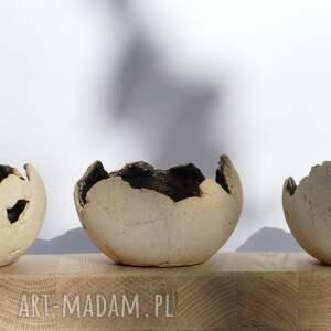 ceramika zestaw 3 lampionów ceramicznych