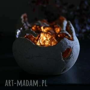 stół ceramika zestaw 3 lampionów ceramicznych