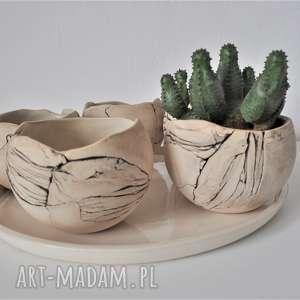 Zestaw 5 doniczek kul na sukulenty - doniczka ceramika