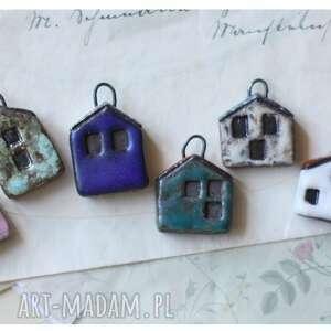 wyjątkowe ceramika zestaw 6 domków z zaczepami
