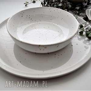 trendy ceramika zestaw ceramiczny nakrapiany