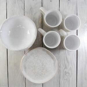 atrakcyjne ceramika talerzyki zestaw ceramiczny dla czterech osób