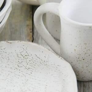 brązowe ceramika prezent zestaw ceramiczny dla czterech osób