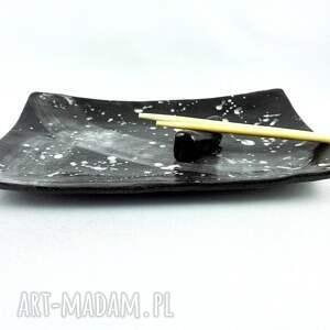 czarne ceramika sushi zestaw ceramiczny do