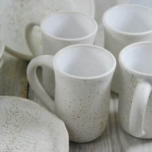 talerzyki ceramika zestaw ceramiczny dla czterech osób