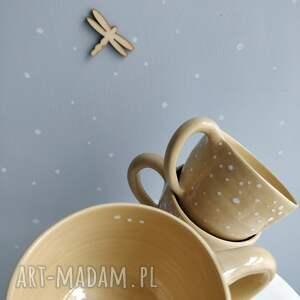 kubki ceramika zestaw czterech ręcznie robionych