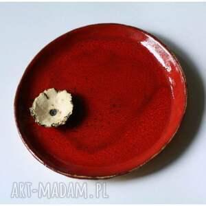 ceramika zestaw dwóch ozdobnych talerzy