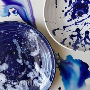 dekoracje ceramika zestaw dwoch talerzy ceramicznych