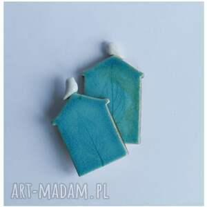 frapujące ceramika zestaw dwóch domków zimowych