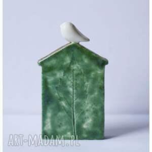 wyraziste ceramika zestaw dwóch domków zielonych