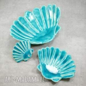 ceramika mydelniczka zestaw łazienkowy muszla