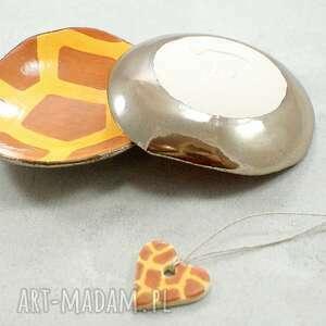 atrakcyjne ceramika miseczki zestaw miseczek żyrafa