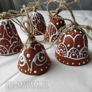 świąteczny prezent ozdoby choinkowe zestaw pięciu dzwoneczków