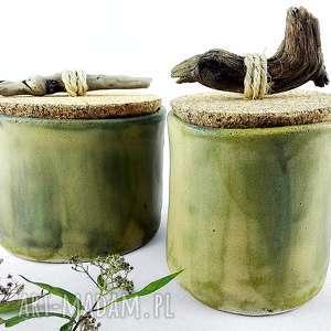 ceramika prezent zestaw pojemników ceramicznych
