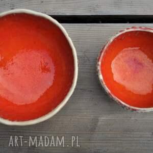 miseczka ceramika zestaw ręcznie fakturowanych