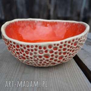 ceramika: Zestaw ręcznie fakturowanych miseczek miska
