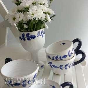 unikatowe ceramika kubki zestaw składający się z trzech