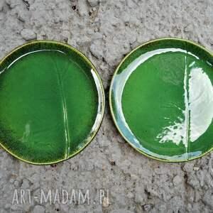 gustowne ceramika zestaw talerzy z liściem chrzanu