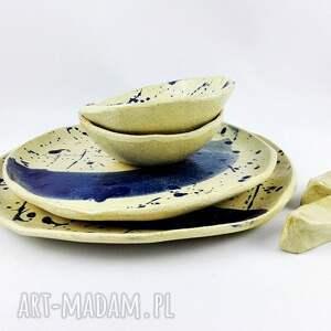 sztuka ceramika zestaw talerzy ceramicznych
