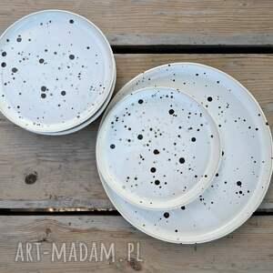 ręcznie zrobione ceramika zestaw talerzy - talerz deserowy