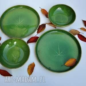 ceramika zielone zestaw z winoroślą