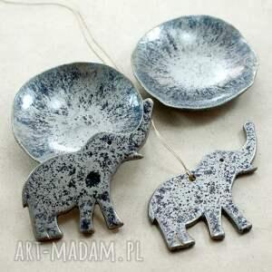 słoń niebieskie zestaw ze słonikiem
