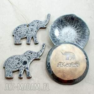 szare ceramika miseczki urokliwy zestaw ceramiczny - dwie małe