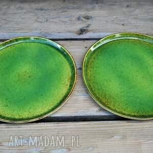 ceramika zestaw zielonych talerzy dla dwojga