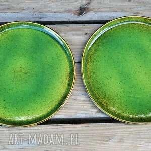 ceramika plate zestaw zielonych talerzy dla dwojga