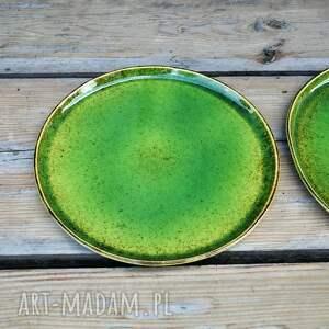ceramika zielone zestaw zielonych talerzy dla dwojga